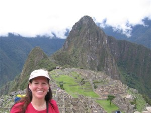 Staci at Machu Picchu in Peru