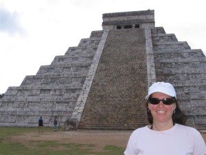 Staci at Chichen Itza